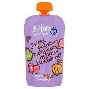 Ella's Kitchen Sweet potatoes Pumpkins Apples & Blueberries 4 mth 120g 4.2 oz