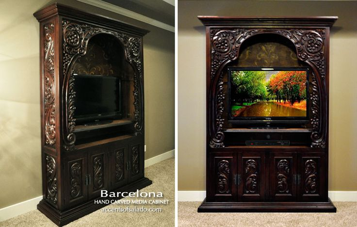Rustic Furniture Spanish Hacienda Style Media Cabinet. See it at Accents of Salado.