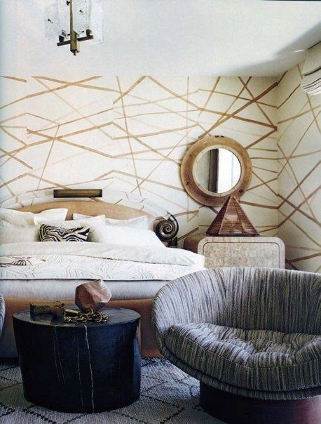 Guest In Good Taste HB Home Design Burda Style Lamp Kelly Wearstler Porter Teleo Wall Coverings Pattern