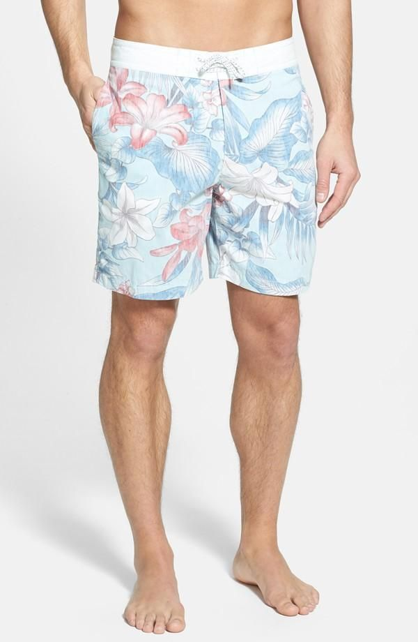Summer fashion - tropical board shorts
