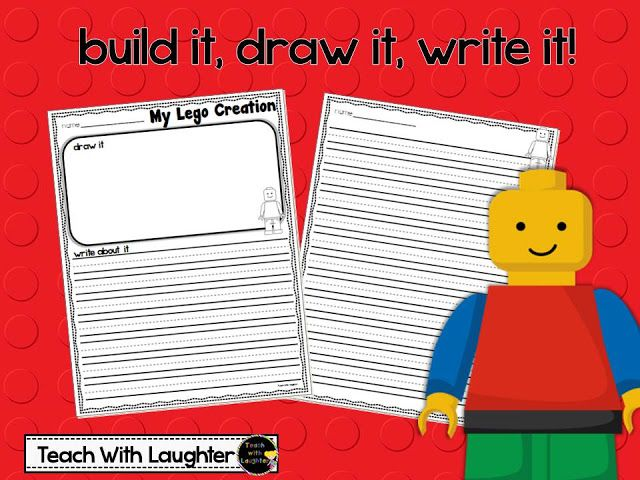 Lego writing paper - have students draw and describe their creations. FREE