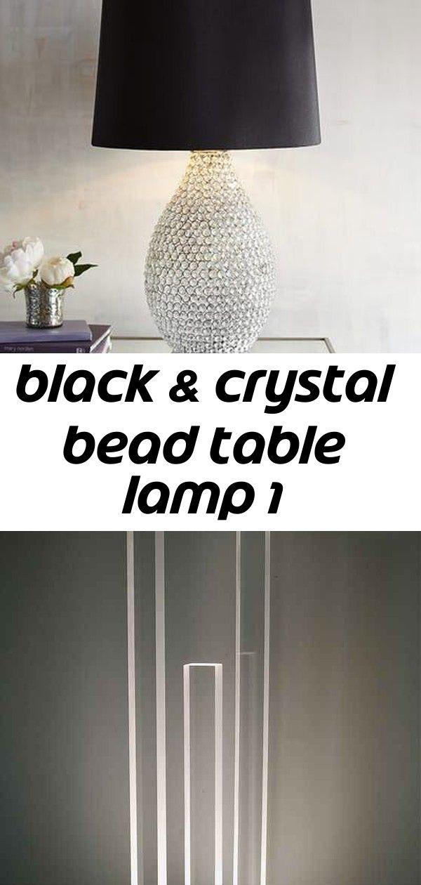 Black Crystal Bead Table Lamp 1 Lamp Black Crystals Table Lamp