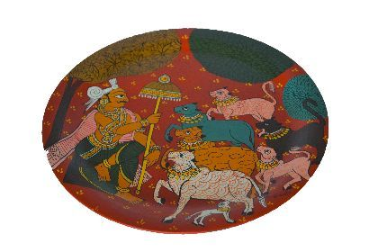 Cheriyal Hand Painted Plate