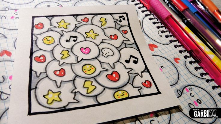 17 best images about how to draw by garbi kw on pinterest for Cute easy patterns to draw