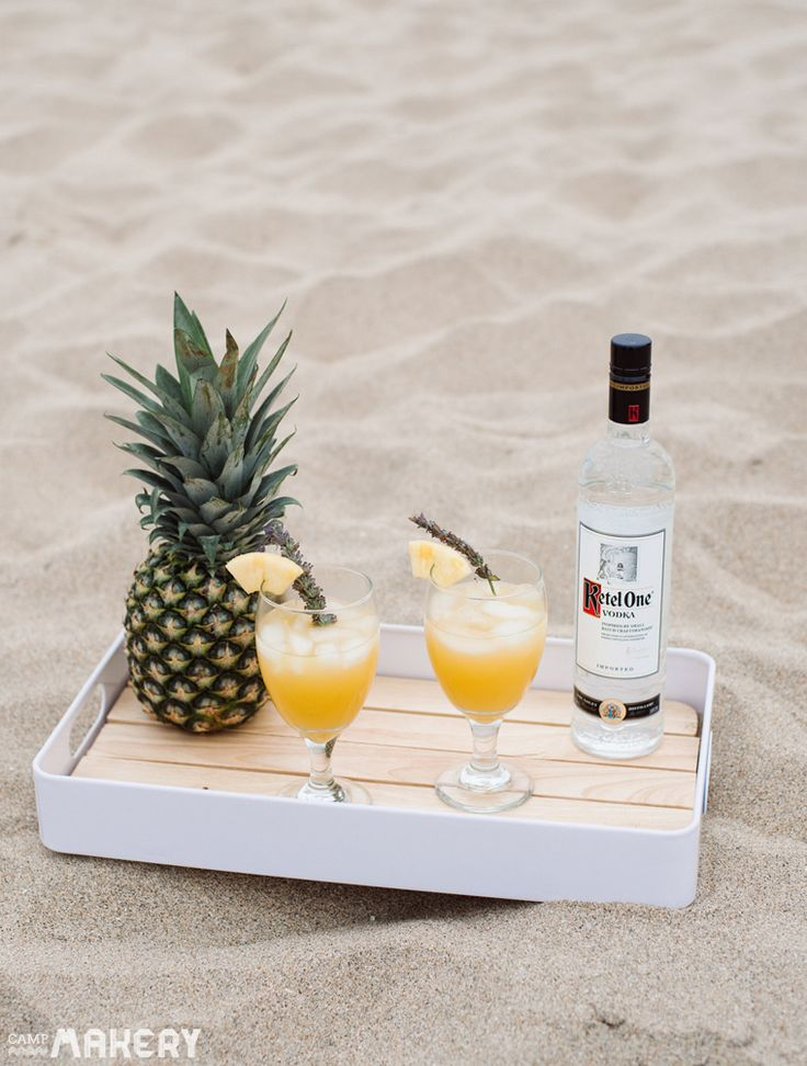 Pineapple Lavender Cocktail | Camp Makery Ketel One, Summer drinks ...