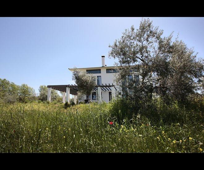Hollands design in de groene heuvels rondom Ronda: el Toro Blanco. Midden tussen de kleurrijke papavervelden en ontelbare olijfbomen, verrijst de stoere, witte villa van Alphons en Marieke Gerritsen.