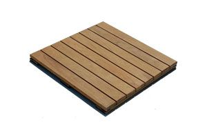 Ipe decking tiles for elevated decks and rooftop decks 2'x2' handydeck  also: 1' x 2' swiftdeck interlocking ipe wood deck tiles