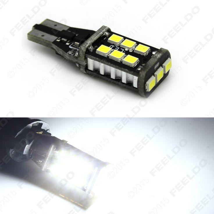 30Pcs Xenon white 15W T15/T10 194 2835SMD 15led Car LED Light Canbus No-Error LED Bulbs #FD-5294