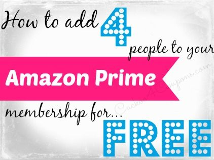 Did you know you can add up to 4 friends or family members to your Amazon Prime membership to snag free 2-day shipping? They will not have access to your Amazon login, your credit card information, or be able to place orders on your account.  They will login to their own Amazon account and be able to order items with free 2-day shipping.