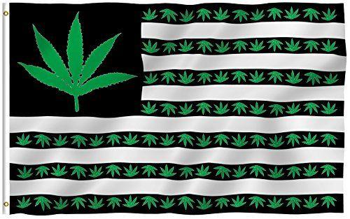 ANLEY® [Fly Breeze] 3x5 Foot Marijuana Leaf USA Polyester…