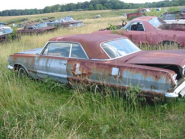 Cl Virginia Stash 1963 Impala Junkyard Cars Chevrolet Impala