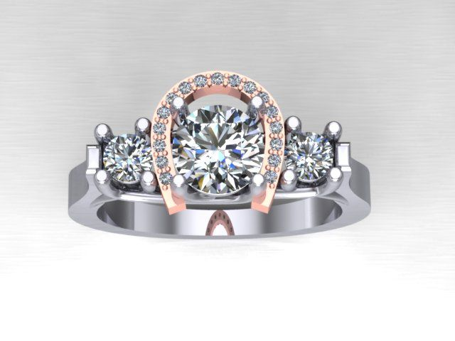 horseshoe engagement ring ive decided i need this - Western Wedding Rings
