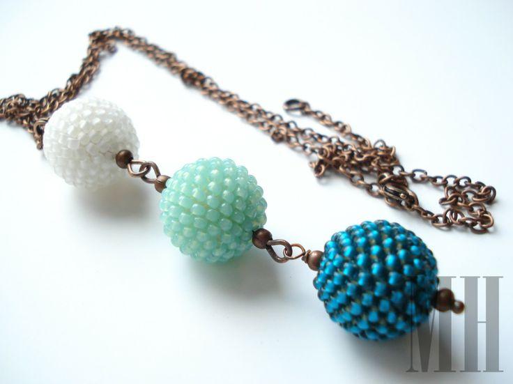 Komplet biżuterii w kolorach morza | MH Biżuteria - cuda ręcznie wykonane