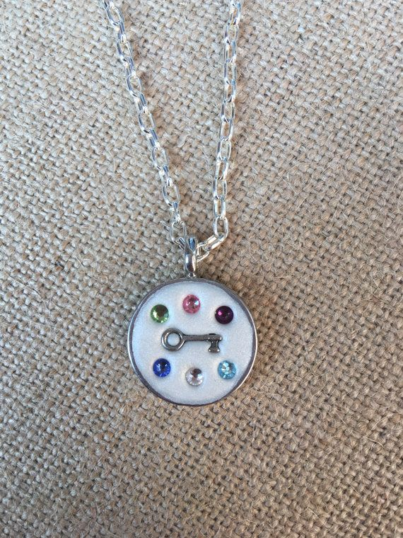 Swarovski Crystal Birthstone necklace with Key by CharlottesCCs