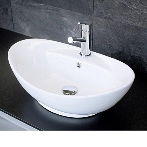aufsatzwaschbecken oval mit hahnloch