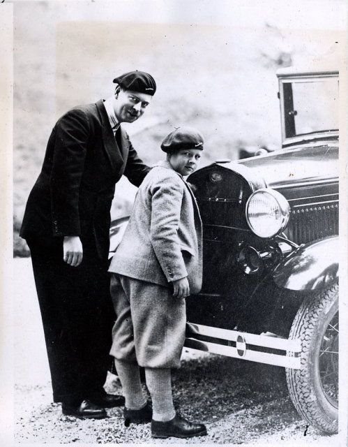 King Carol II and Crown Prince Mihai of Romania (future King of Romania)