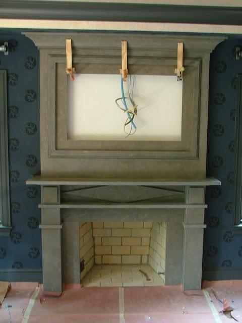 fireplace surround w tv insert idea