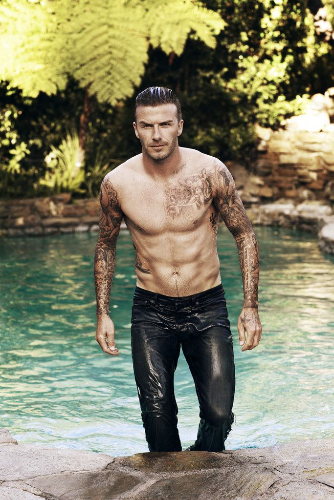 Hello Handsome!!!! (David Beckham Shirtless Elle UK Cover)