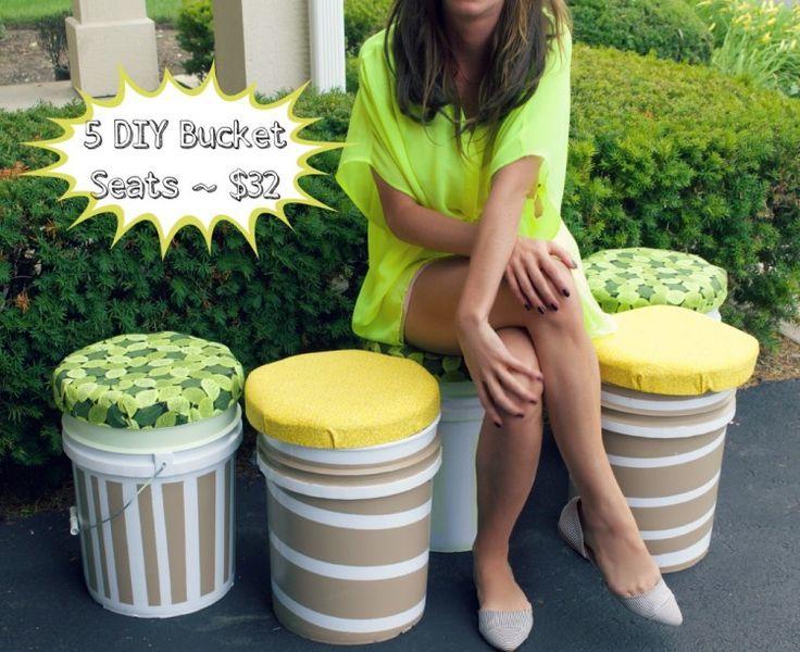 How to: 5 gallon bucket seats DIY perfect for classrooms! #teachers #teachercraft #bucketstools