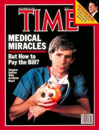 IL CUORE ARTIFICIALE PERMANENTE - 1982 Il caso più famoso, probabilmente, è quello del dottor Barnet Clark, un dentista di Seattle chenel 1982è sopravvissuto 112 giorni con un Jarvik-7, il primo dispositivo progettato per sostituire completamente il cuore umano.