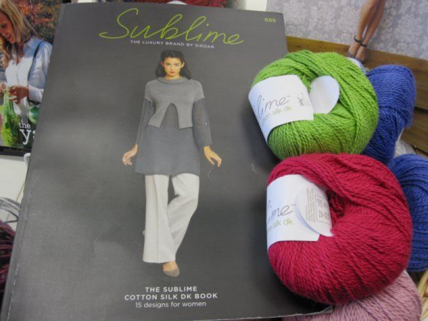 The Sublime Cotton Silk DK Book 685, available online and in-store.