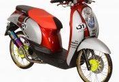 MOdifikasi Honda Scoopy Thai Look