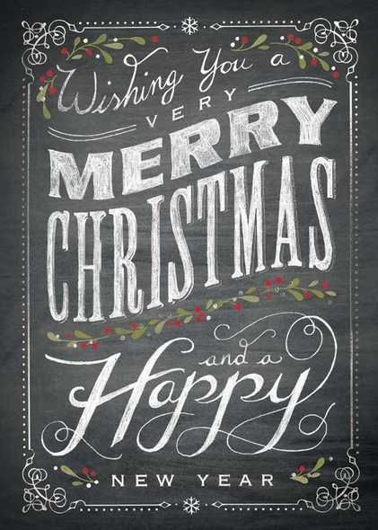 Preview image for product titled: Chalkboard Merry Christmas