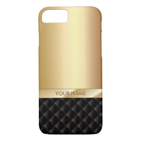 Modern Luxury Gold with Custom Name iPhone 7 iPhone 7 Case - click to get yours right now!