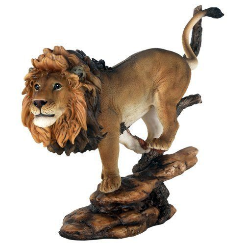"10 3/4"" Pride Rock King of The Jungle Savannah Lion Wildlife Home Statue Simba"
