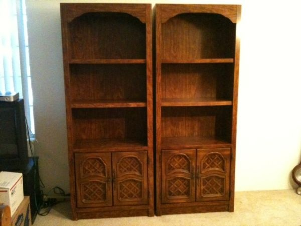 2 Nice Matching Wood Bookcases / Bookshelves Bookcase book shelf  Price: $200 for both.   CL Location: Studio City