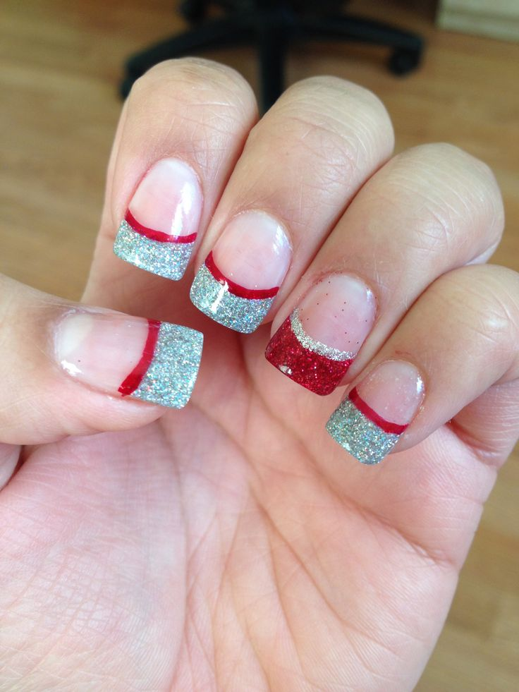 Last Christmas's acrylic nail design :)