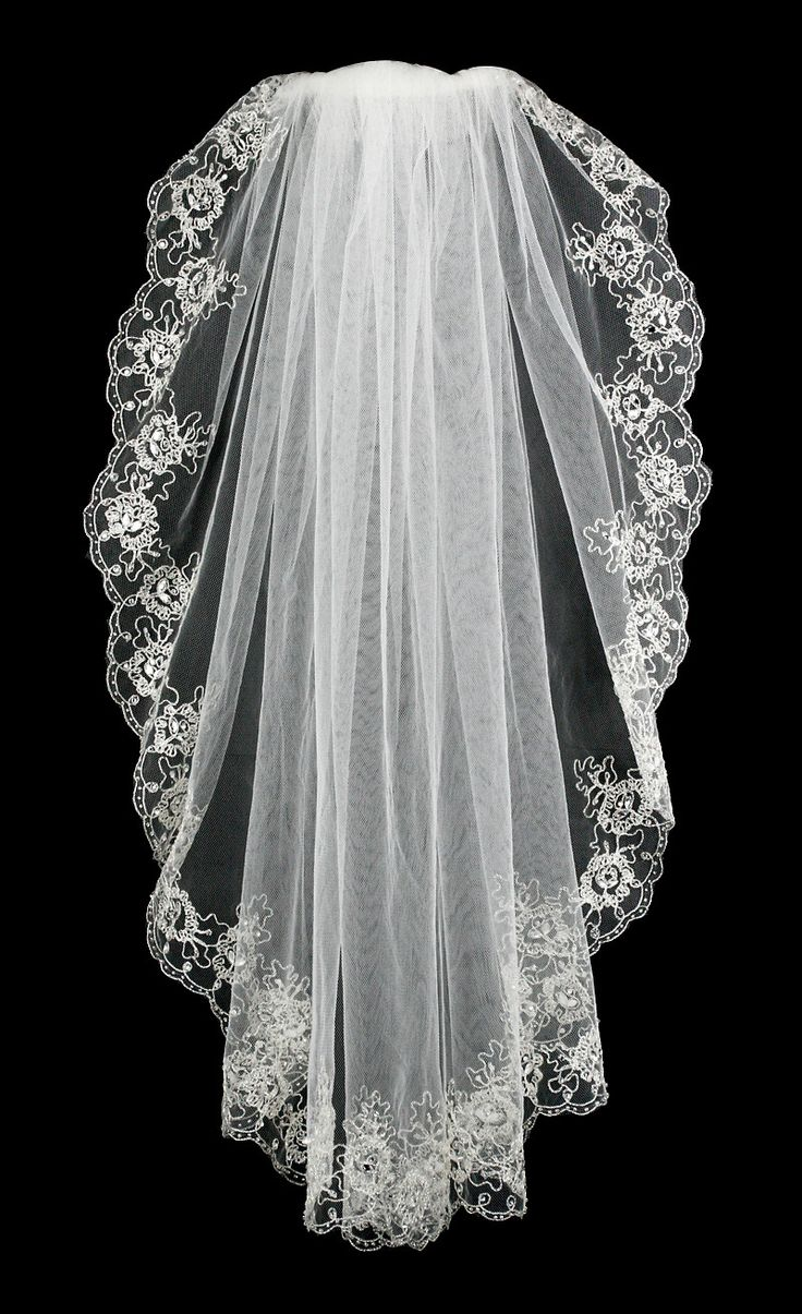 Waist Bridal Veil of Embroidered Flowers Marquise Rhinestones