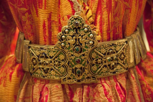 Traditional bridal belt. Late-Ottoman era, ca. 1900. Greek, from Thrace .