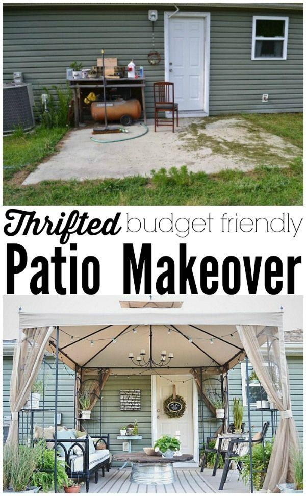 Back Patio Makeover Full Reveal Source List Best Of Pinterest