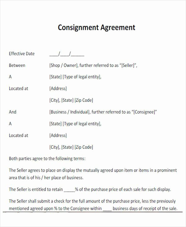Simple Consignment Agreement Cash Flow Statement Preparing A Business Plan Resume Examples