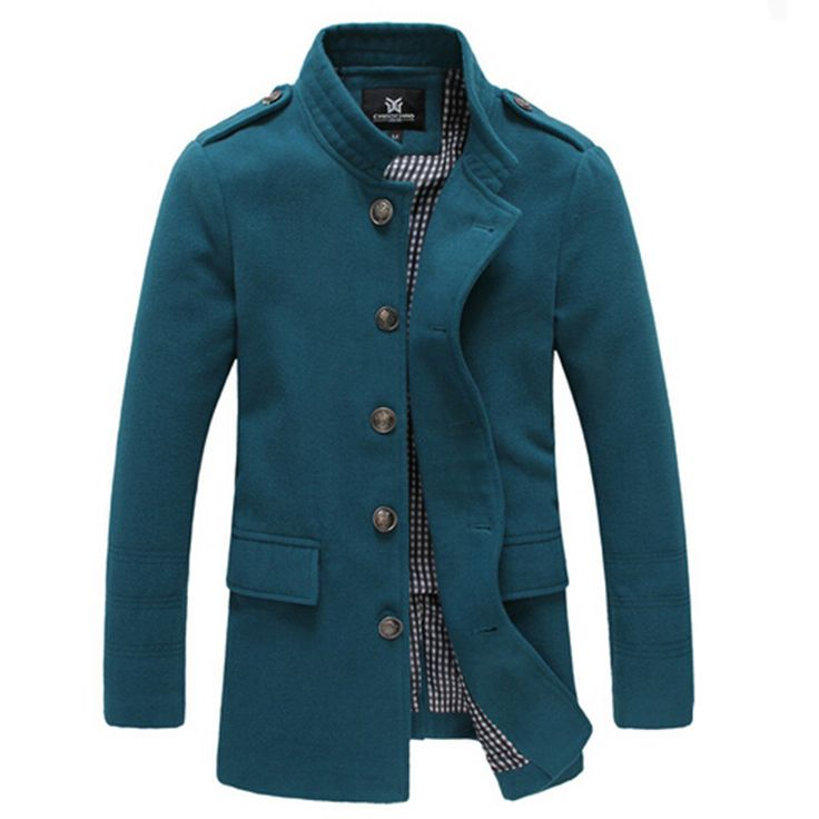 High quality 2016 Men's Winter Dust Coat mens Overcoat winter Male Fashion…