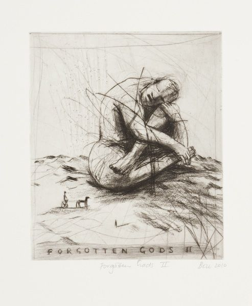 Forgotten Gods II (2010).Edition of 20. Drypoint