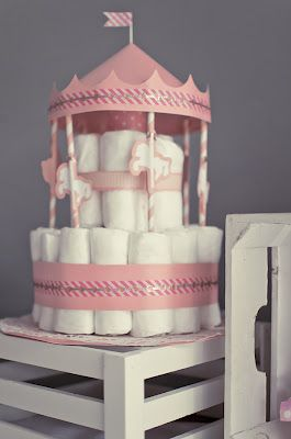 Diaper cake - Tarta de pañales - Baby shower gifts and crafts