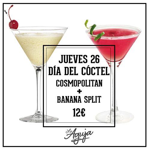 Este jueves disfruta de nuestro Cosmopolitan y Banana Slipt en el Happy Hour del Restaurante La Aguja de Las Tablas. Cócteles Las Tablas.