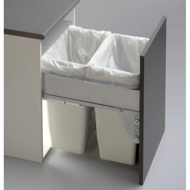 Cubos de basura grandes extraíbles para el reciclaje residuos (2x35L) #reciclaje…