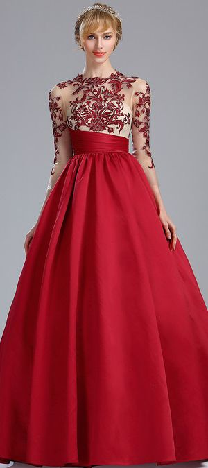 eDressit Red Embroidery Prom Dress