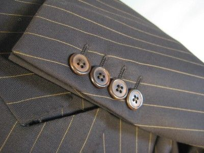 Sartoria Ravazzolo | Ravazzolo Italy Alta SARTORIA Brown Striped Suit 42 44 US 52 54 EU ...