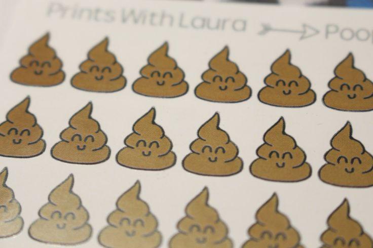 48 kawaii cute poop stickers   Erin Condren Life Planner   MAMBI Happy Planner by printswithlaura on Etsy