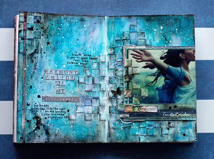 art journal by Tanita http://hand-made-by-rainbow.blogspot.ru/2014/10/blog-post_27.html?showComment=1414340237764