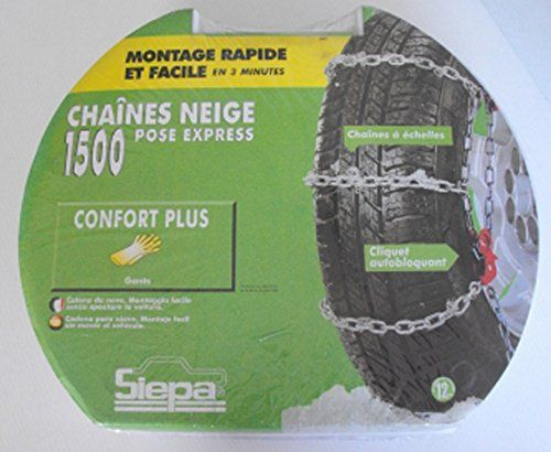 Paire de chaines neige pour pneu 185/65/15 – TOP CHRONO 1500 N7: Paire de chaines neige à echelles Destockage Massif de Chaînes neige à…