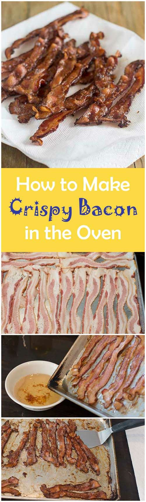 Making bacon for a crowd? Find out how to make a big batch of bacon in the oven. With this method you get it nice and crispy with very little effort. Easy crispy bacon – who doesn't love that?#bacon #cookingtips #cookthestory