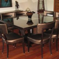 Square dining table for dining room.
