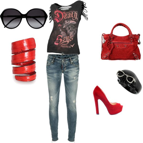 Rocker look! Great for a concert...