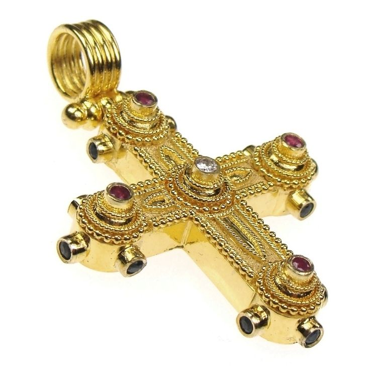 Damaskos Ruby And Diamond Western Cross Athena S Treasures See More At Www Athenas