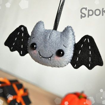 felt halloween decor bat ornament halloween toy felt ornaments halloween gifts party favor decorations halloween cute - Cute Halloween Decor